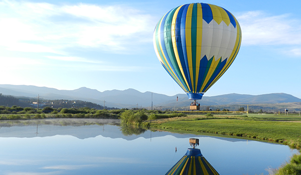 Hot air ballooning in the Rocky Mountains - Grand County, Colorado